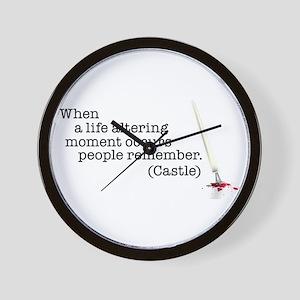 Life altering moment Wall Clock