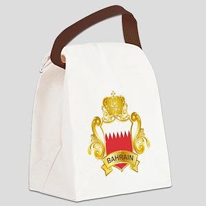 Gold Bahrain Canvas Lunch Bag