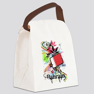 Flower Bahrain Canvas Lunch Bag