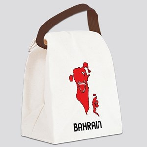 Map Of Bahrain Canvas Lunch Bag