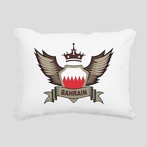 Bahrain Emblem Rectangular Canvas Pillow