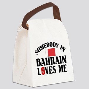 Somebody In Bahrain Canvas Lunch Bag