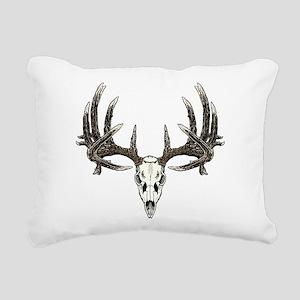 Big whitetail buck Rectangular Canvas Pillow