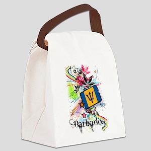 Flower Barbados Canvas Lunch Bag