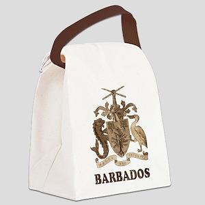 Vintage Barbados Canvas Lunch Bag