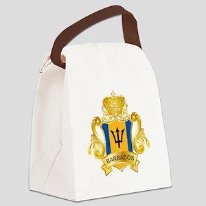 Gold Barbados Canvas Lunch Bag