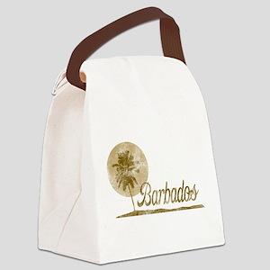 Palm Tree Barbados Canvas Lunch Bag