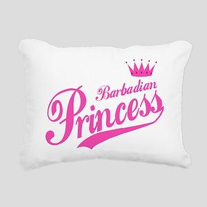 Barbadian Princess Rectangular Canvas Pillow