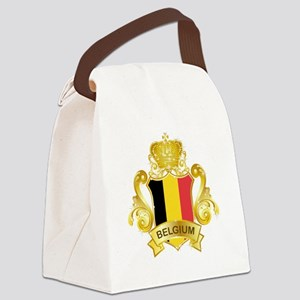 Gold Belgium Canvas Lunch Bag