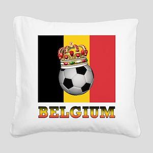 Belgium Football Square Canvas Pillow