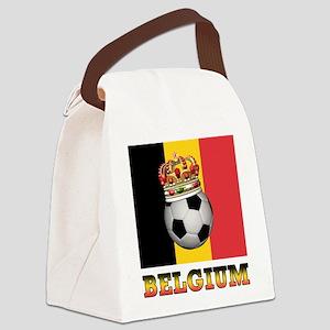 Belgium Football Canvas Lunch Bag