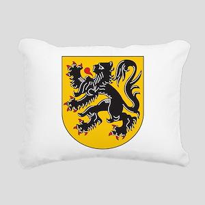 Flanders Coat Of Arms Rectangular Canvas Pillow