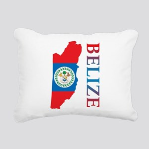 Map Of Belize Rectangular Canvas Pillow