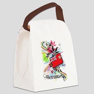 Flower Bermuda Canvas Lunch Bag