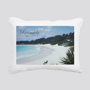 Bermuda Beach Rectangular Canvas Pillow