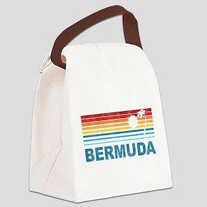 Palm Tree Bermuda Canvas Lunch Bag
