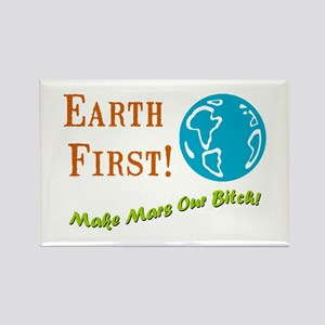 Earth First Rectangle Magnet