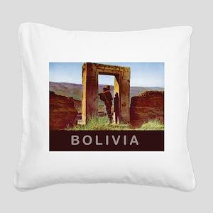 Bolivia Square Canvas Pillow