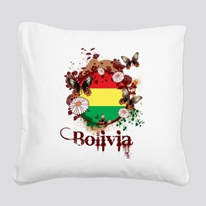 Butterfly Bolivia Square Canvas Pillow