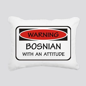 Attitude Bosnian Rectangular Canvas Pillow