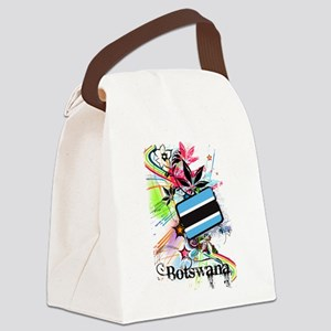 Flower Botswana Canvas Lunch Bag