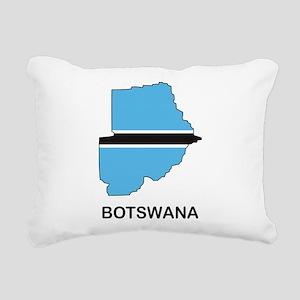 Map Of Botswana Rectangular Canvas Pillow