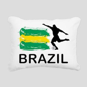 Brazil Football Rectangular Canvas Pillow