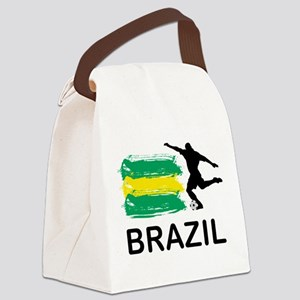 Brazil Football Canvas Lunch Bag