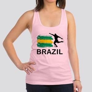 Brazil Football Racerback Tank Top