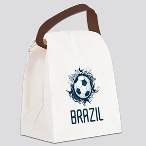 Hip Brazil Football Canvas Lunch Bag