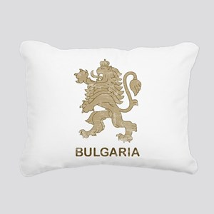 Vintage Bulgaria Rectangular Canvas Pillow