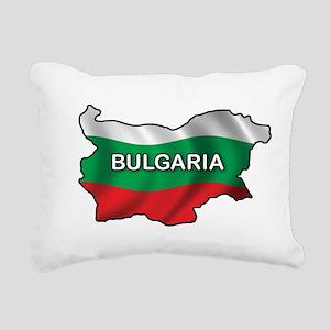 Map Of Bulgaria Rectangular Canvas Pillow