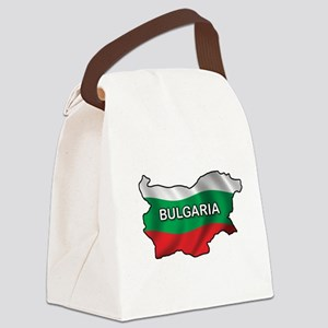 Map Of Bulgaria Canvas Lunch Bag