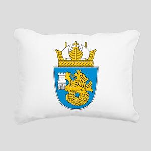 Burgas Coat Of Arms Rectangular Canvas Pillow