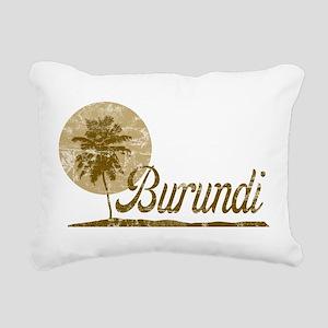 Palm Tree Burundi Rectangular Canvas Pillow