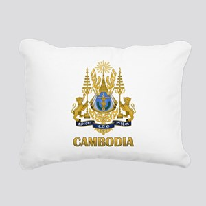 Cambodia Coat Of Arms Rectangular Canvas Pillow