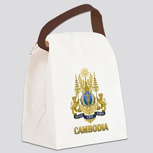Cambodia Coat Of Arms Canvas Lunch Bag