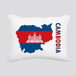 Map Of Cambodia Rectangular Canvas Pillow