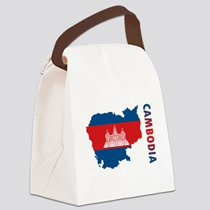 Map Of Cambodia Canvas Lunch Bag