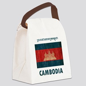 Vintage Cambodia Canvas Lunch Bag