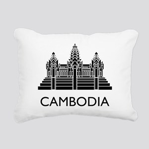 Cambodia Angkor Wat Rectangular Canvas Pillow