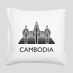 Cambodia Angkor Wat Square Canvas Pillow