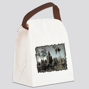 Vintage Angkor Wat Canvas Lunch Bag