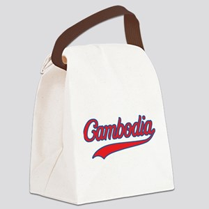 Retro Cambodia Canvas Lunch Bag