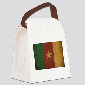 Vintage Cameroon Flag Canvas Lunch Bag