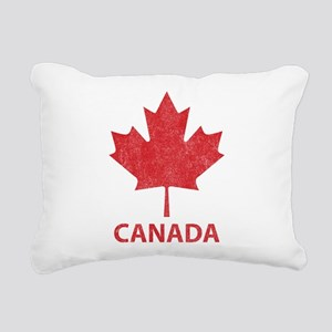 Vintage Canada Rectangular Canvas Pillow