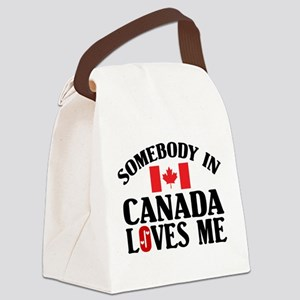 Somebody In Canada Canvas Lunch Bag