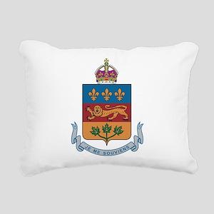 Quebec Coat Of Arms Rectangular Canvas Pillow