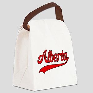 Retro Alberta Canvas Lunch Bag