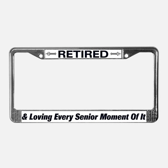 Happily Retired License Plate Frame